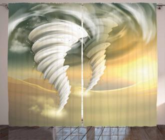Abstract Hurricane Swirls Curtain