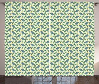 Dinos Monstera Pineapples Curtain