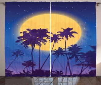 Coconut Palm Beach Curtain