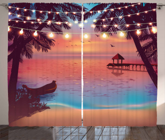 Mystic Evening Beach Curtain