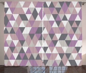 Abstract Triangle Polygon Curtain
