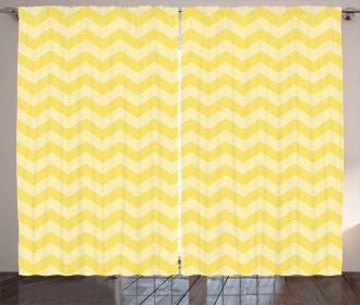 Monotone Stripes Pattern Curtain