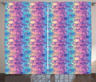 Vertical Colorful Stripes Curtain