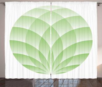 Spiritual Lotus Flower Asian Curtain