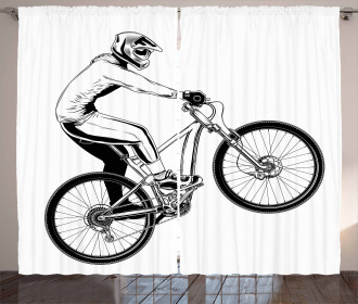 Bicycle Trick Theme Curtain