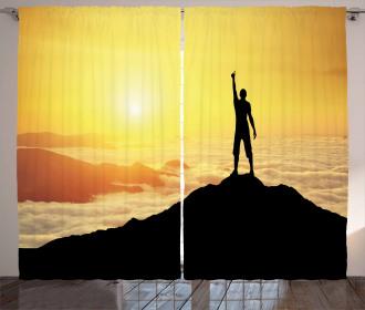 Silhouette Mountain Curtain