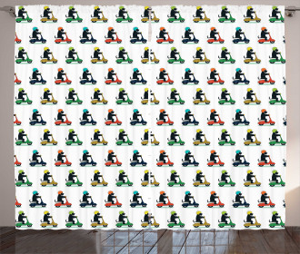 Funky Scottish Terriers Curtain