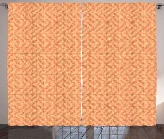 Grunge Style Square Tiles Curtain