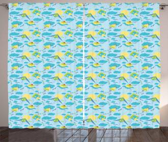 Summer Season Activity Theme Curtain