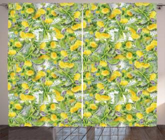 Pile of Chrysanthemum Buds Curtain