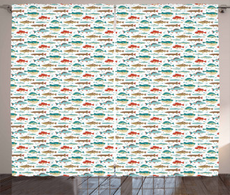 Colorful Ocean Animal Pattern Curtain