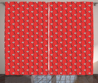 Maki Rolls with Chopsticks Curtain