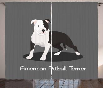 American Cartoon Terrier Curtain