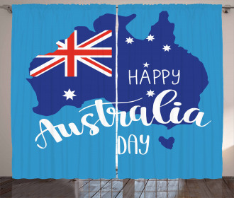 Aussie Day Quote Curtain