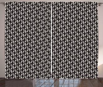 Plus Sign Geometric Curtain