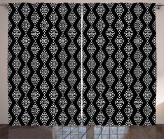 Primitive Triangle Ikat Curtain