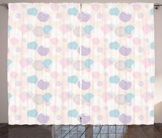 Soft Toned Dahlia Petals Curtain