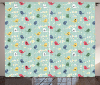 Chamomile Daisy Summer Season Curtain