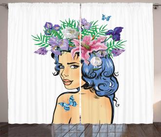 Floral Spring Woman Teen Curtain