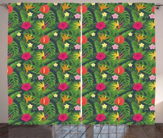 Hawaiian Botanical Aloha Curtain