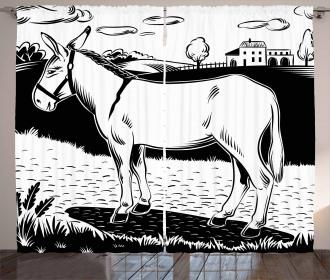 Farmland Village and Animal Curtain