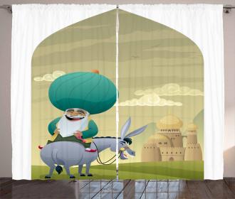 Cartoon of Nasreddin Hodja Curtain