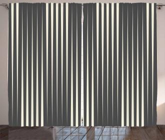 Minimalist Stripes Artsy Curtain