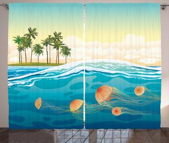 Jellyfish in the Ocean Curtain