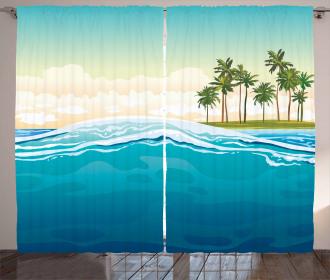 Ocean Holiday Landscape Curtain