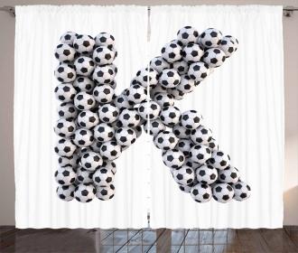Soccer Alphabet Design Curtain