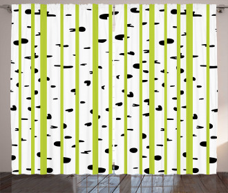 Birch Woods Growth Stems Curtain