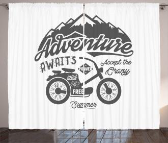Mountains Bike Curtain