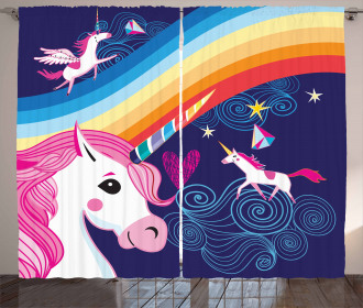 Mythical Animals in the Sky Curtain