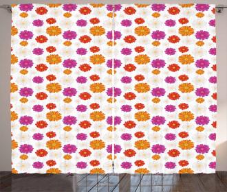 Vibrant Color Blossoms Curtain