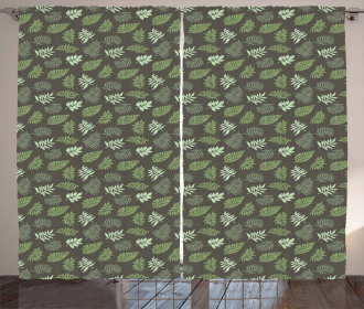 Foliage Composition Exotic Curtain