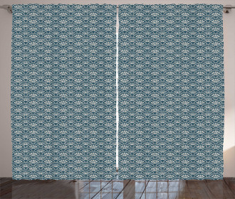 Scale Design Flower Buds Curtain