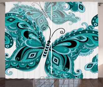 Ornamental Animal Pattern Curtain