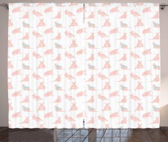 Nursery Concept and Hearts Curtain