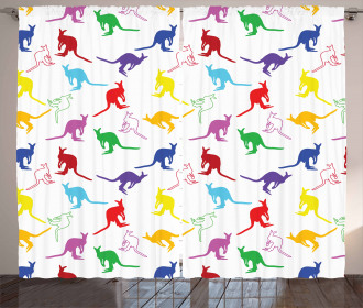 Vibrant Wildlife Concept Curtain