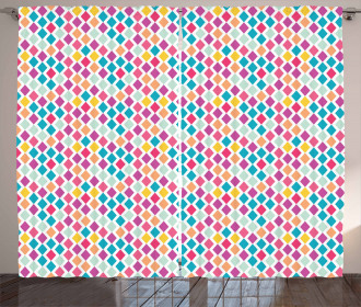 Rhombus Shapes Abstract Curtain