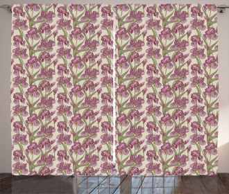 Blossoming Growth Pattern Curtain