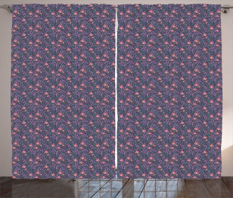 Blossoming Flowers Bouquet Curtain