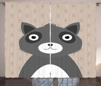Animal Portrait Geometric Curtain
