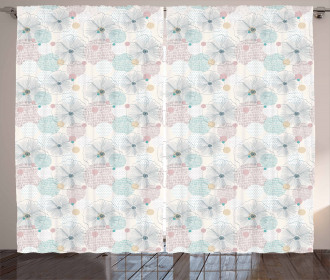 Dotted Spring Backdrop Curtain