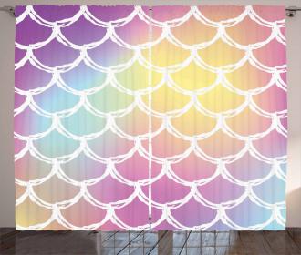 Abstract Fish Skin Curtain