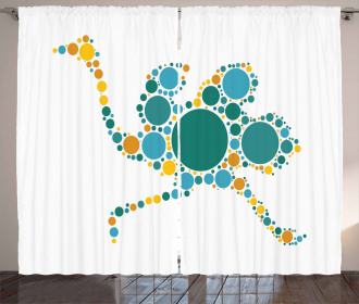 Abstract Geometric Modern Curtain