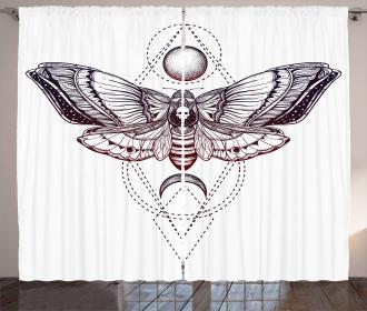 Spiritual Butterfly Art Curtain