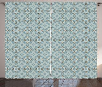 Abstract Tile Lattice Mosaic Curtain