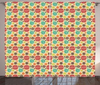 Sketchy Big Small Spots Curtain