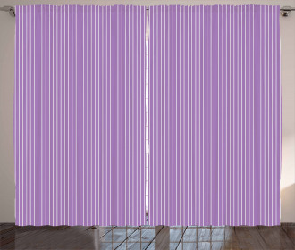 Sweet Soft Pastel Stripes Curtain